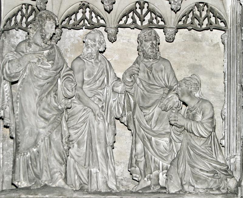 """""""Allora gli scribi e i farisei gli conducono una donna sorpresa in adulterio"""" (Gv 8, 3)"""