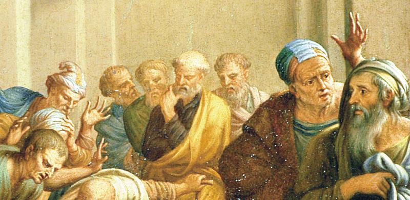 I farisei che accusavano l'adultera si sentono accusati da Gesù