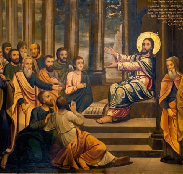 Gesù predica nella sinagoga