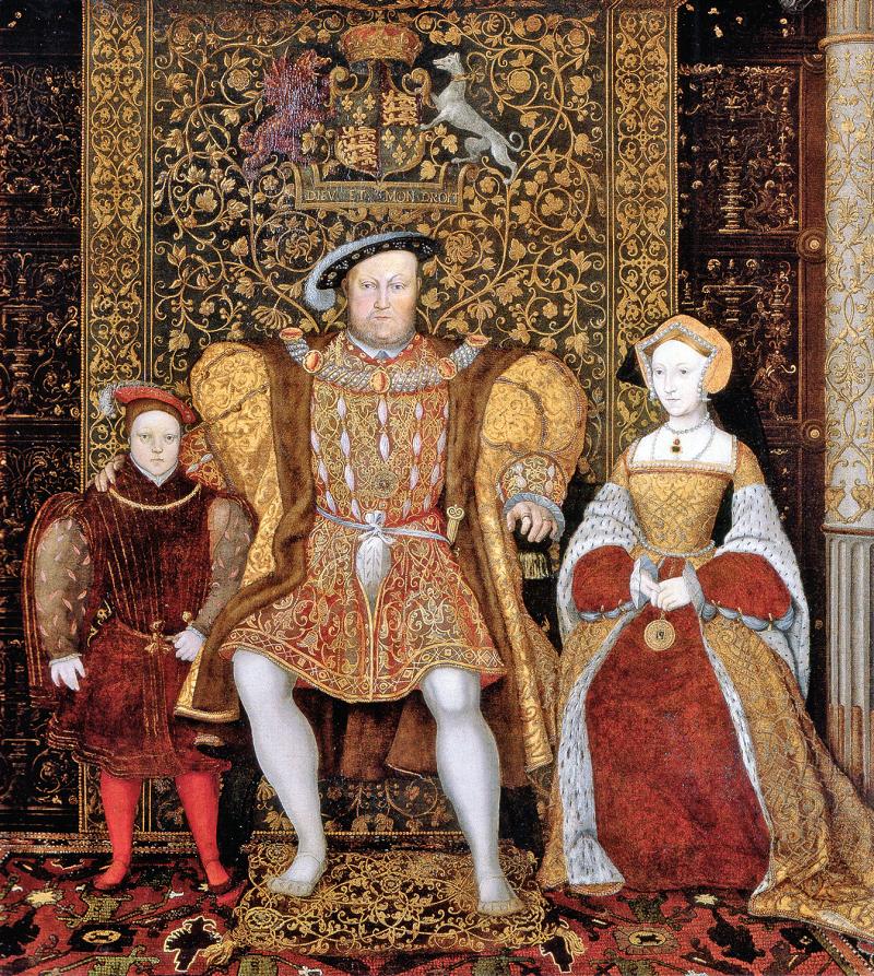 Enrico VIII con la sua famiglia