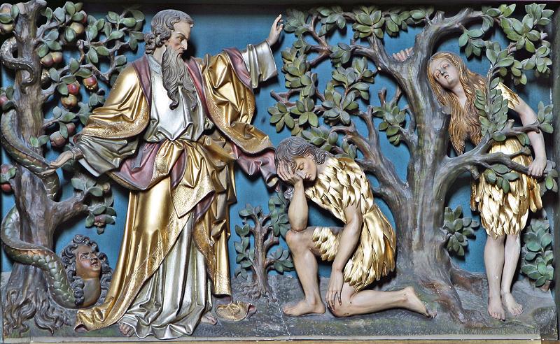 Dio scaccia Adamo ed Eva dal Paradiso
